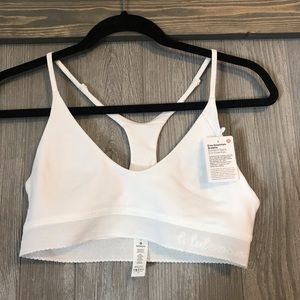 NWT Lululemon White Ever Essentials Bralette SizeM